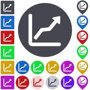 Color ascending icon set Stock Illustration