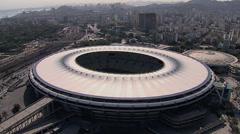 Aerial view of Maracana Stadium, Rio de Janeiro - stock footage