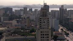 Flying above Downtown buildings, Rio de Janeiro Stock Footage