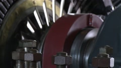 Electric generator from old electric central Stock Footage