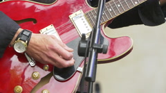 Guitarist playing electric guitar  Stock Footage