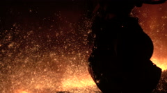 Ends of production of pig iron Stock Footage