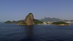 Stock Video Footage of Aerial view of Sugarloaf Mountain and Christ the Redeemer, Rio de Janeiro