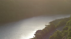 the avon river valley: landscape on the river in the afternoon   - stock footage