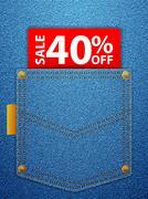 Sale forty percentage off Stock Illustration
