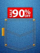 Sale ninety percentage off Stock Illustration