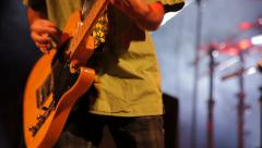 Guitarist playing guitar Stock Footage