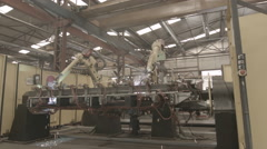 Big Machine Arms Factory Stock Footage