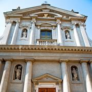 Building old architecture in italy europe milan religion       and sunlight Stock Photos