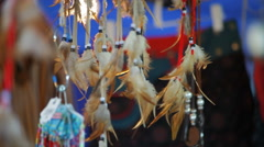 Dreamcatcher for sale Stock Footage