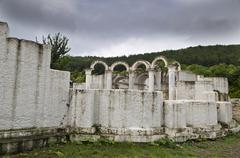 The Round Church in the old Bulgarian capital Veliki Preslav - stock photo