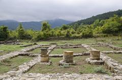 Ruins of the medieval town of Veliki Preslav, Bulgaria - stock photo