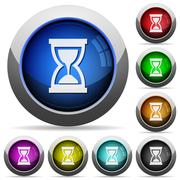 Hourglass button set Stock Illustration