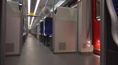 Inside U-bahn in Frankfurt Germany 4k Stock Footage