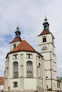 Protestant church in Regensburg - stock photo