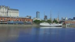Stock Video Footage of Argentina Buenas Aires pan at Puerto Madero