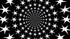 Concentric, dashing, rotating, abstract symbols, snowflakes. - stock footage