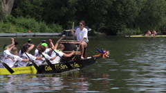 Calwa IT services in Drache rowing competition Offenbach Germany 4k Stock Footage