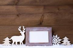 Shabby Chic Christmas Card With Copy Space - stock photo