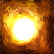 Explosion geometric gold background - stock illustration