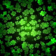 St Patricks day background - stock illustration