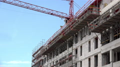 New building construction near completion 4k Stock Footage