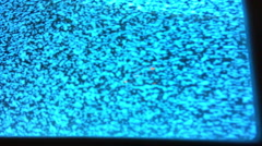 Close up of static on old television screen - stock footage