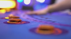 Gambling Black Jack in a casino - starting game and dealing cards Stock Footage