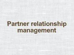 Stock Illustration of Business concept: Partner Relationship Management on fabric texture background