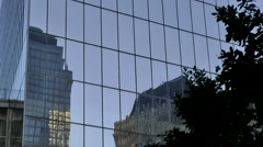 New York City 447 Manhattan One World Trade Center glass facade Stock Footage