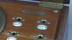 Vintage French voltmeter, pan shot Stock Footage