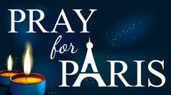 Pray for paris , Abstract Background ,Silhouette of Eiffel tower in  lights and Stock Illustration