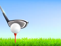 Golf Realistic Background Stock Illustration