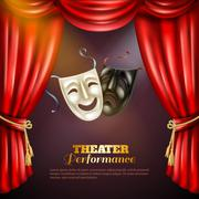 Theatre Background Illustration Piirros