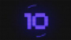 Pixel Countdown from 10, LED Pannel Stock Footage