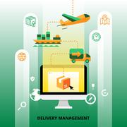 Delivery Management Illustration Stock Illustration
