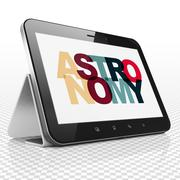 Science concept: Tablet Computer with Astronomy on  display Stock Illustration