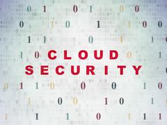 Cloud computing concept: Cloud Security on Digital Paper background Stock Illustration