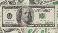 Franklin smiling and winking on the one hundred dollar bill. v.2 - stock footage