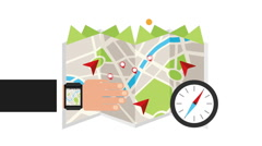 Gps Icon design Stock Footage