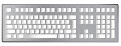 Blank Computer Keyboard Stock Illustration