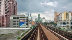Kuala Lumpur commuter train Stock Footage
