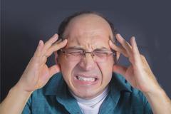 Adult man under severe stress Stock Photos