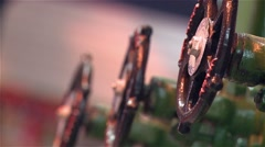 Old water taps made of wrought iron Stock Footage