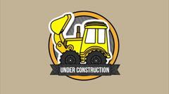 Under Construction Design Stock Footage