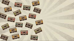 Cassette design background Stock Footage