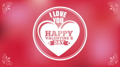 Happy valentines day design, Video Animation Stock Footage