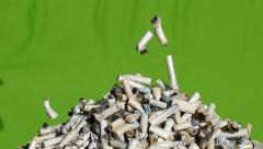 Cigarette butts - slow rotation Stock Footage