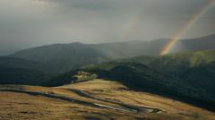 Double rainbow scenery Stock Footage