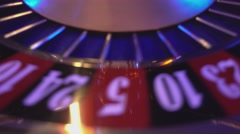 the numbers of a roulette wheel - stock footage